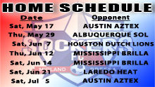 Sockers Schedule